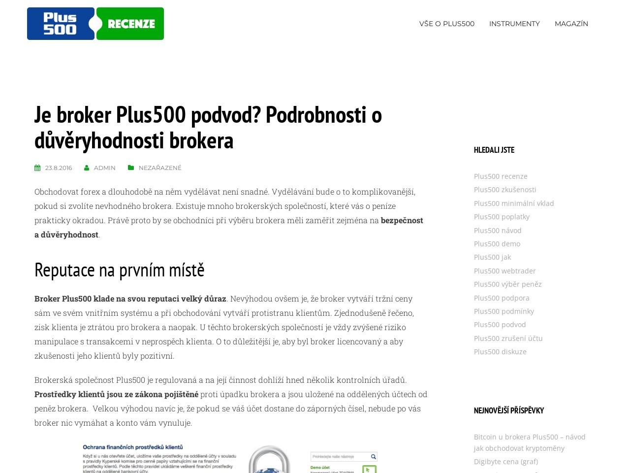 Je broker Plus500 podvod? Podrobnosti o důvěryhodnosti brokera (Zdroj: Wordpress.com)
