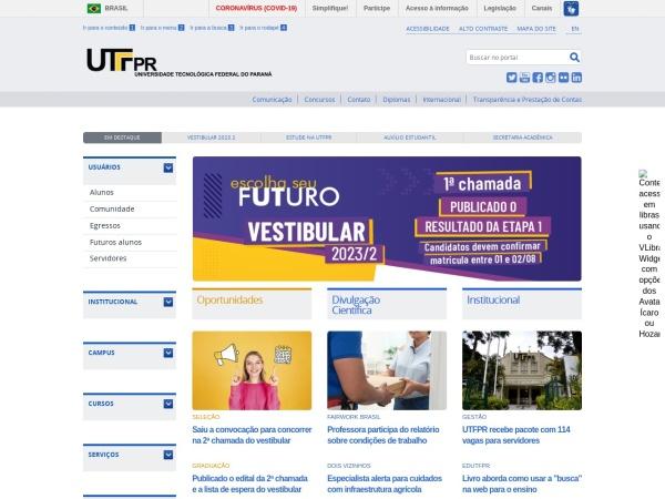 Screenshot of portal.utfpr.edu.br