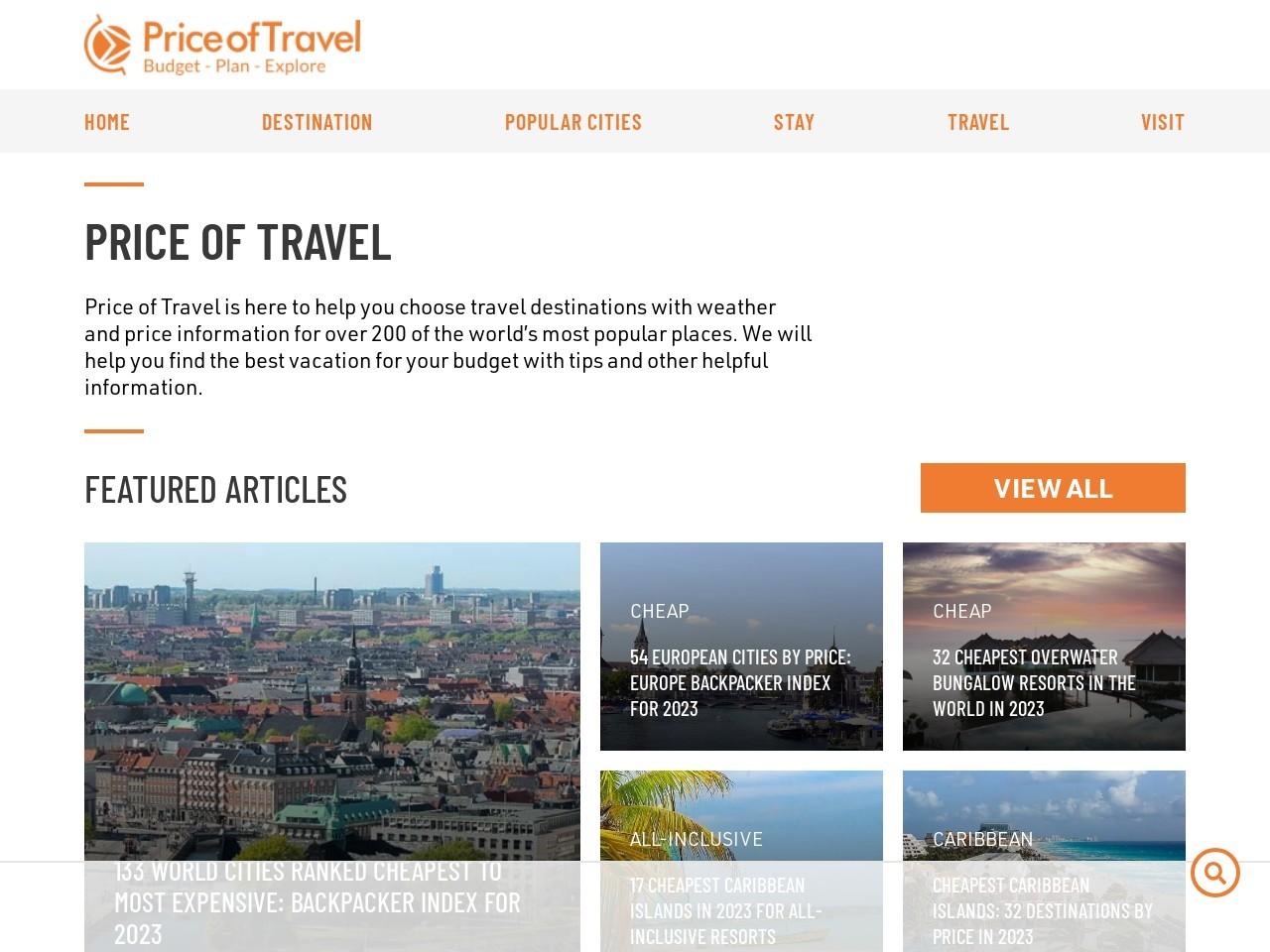 priceoftravel.com