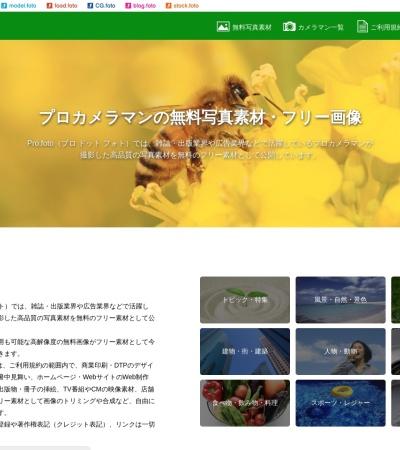 Screenshot of pro.foto.ne.jp