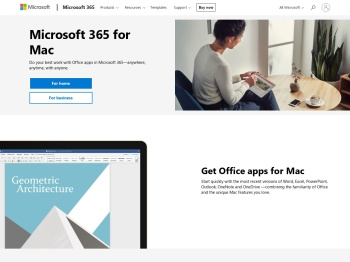 Office for Mac Website