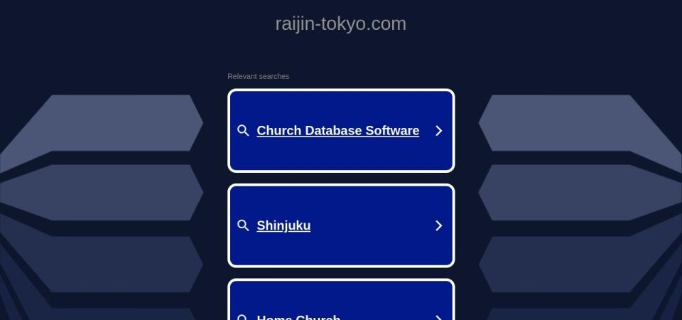 Screenshot of raijin-tokyo.com