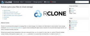 rclone - rsync for cloud storage