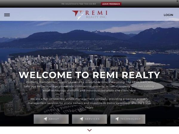 Screenshot of remirealty.ca
