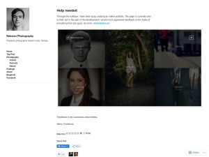 Reksten Photography using the Anthem WordPress Theme