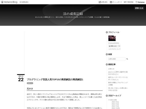 Screenshot of ryo021021.hatenablog.com