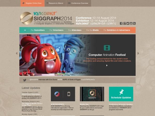 Screenshot of s2014.siggraph.org