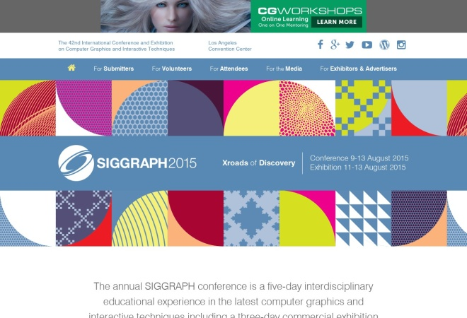 Screenshot of s2015.siggraph.org