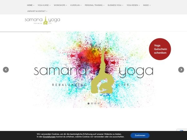 Screenshot of samanayoga.de