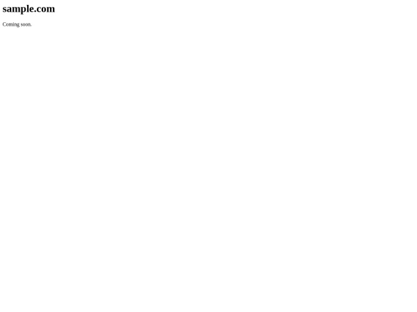 Screenshot of sample.com