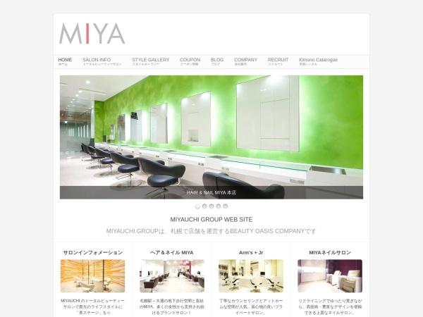 Screenshot of sapporo-biyoushitsu-miyauchi.jp