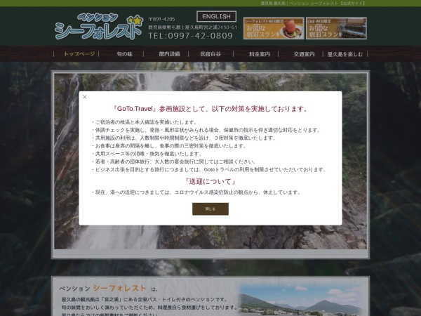 Screenshot of seaforest.info