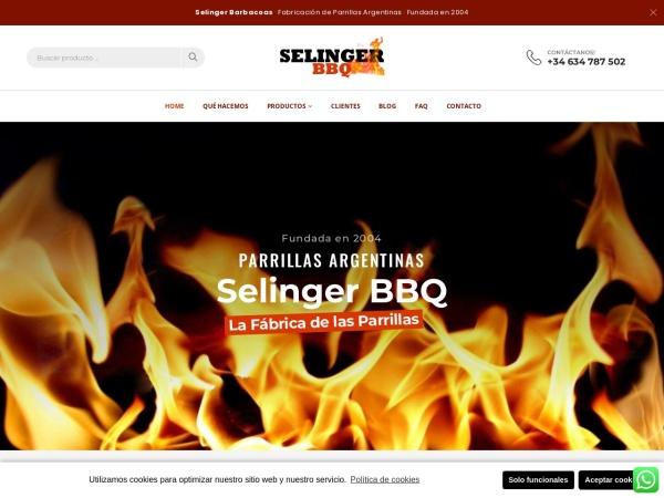 Captura de pantalla de selingerbarbacoas.com