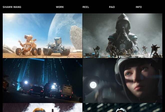 Screenshot of shawnwangvfx.com