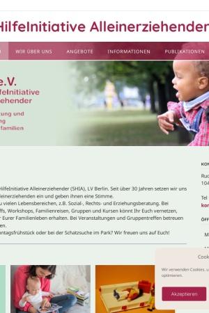 Screenshot of shia-berlin.de