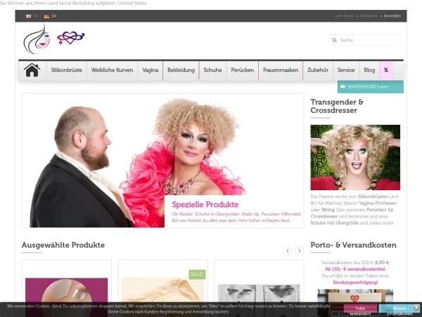 Screenshot von shop-transgender.de