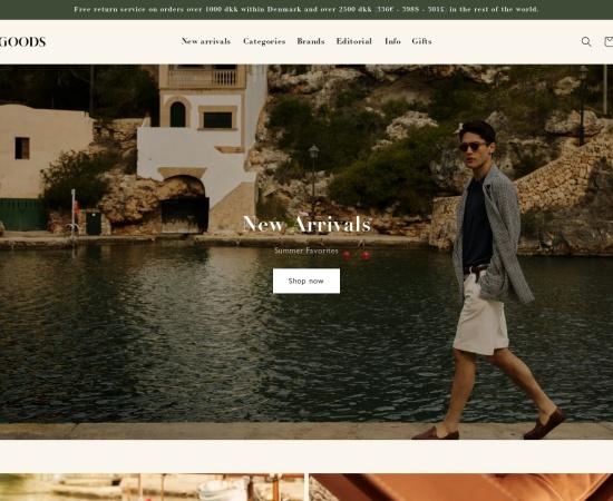 Screenshot of shop.goodscph.com