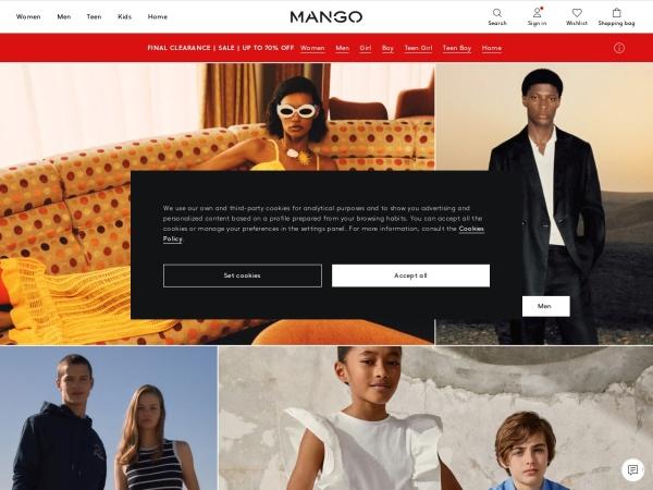 Screenshot of shop.mango.com