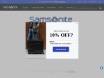 Samsonite percent off coupon