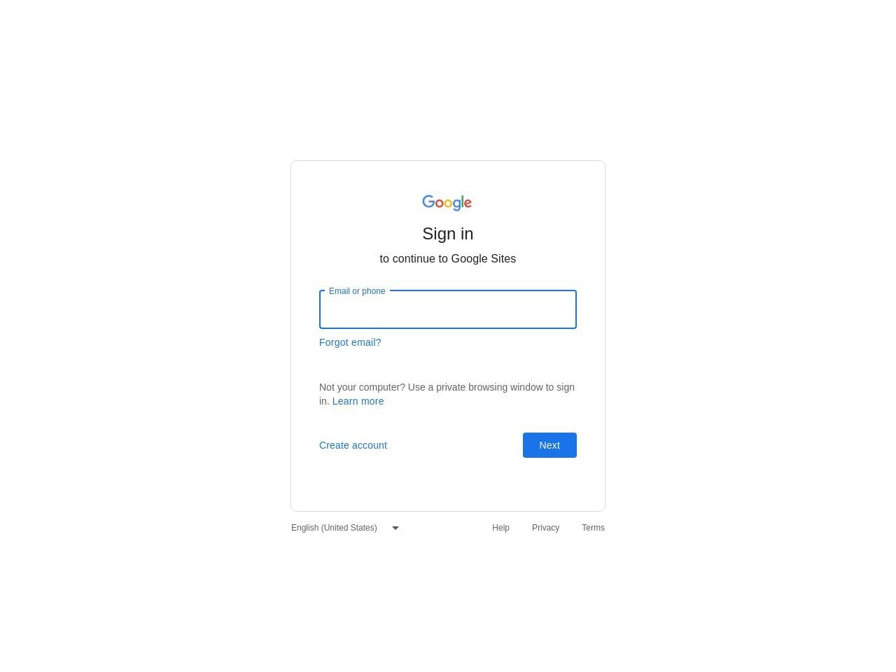 Google サイト