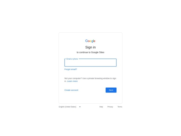 Screenshot of sites.google.com