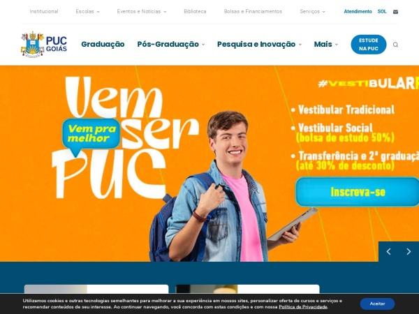 Screenshot of sites.pucgoias.edu.br