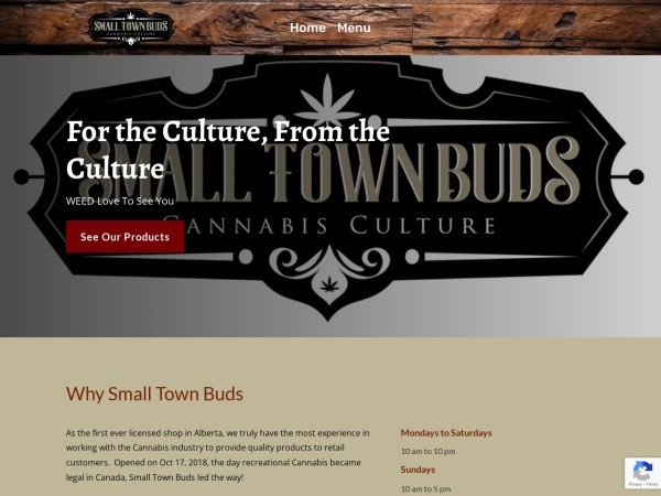 Screenshot of smalltownbuds.net