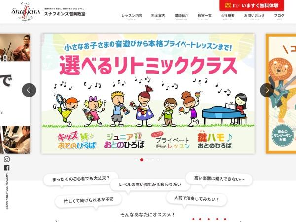 Screenshot of snafkins-music.com