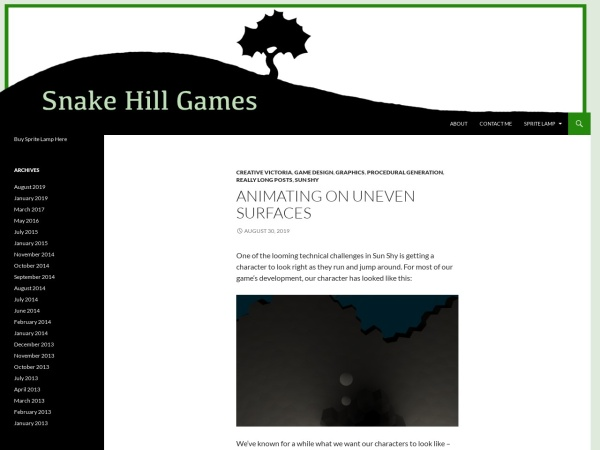Screenshot of snakehillgames.com
