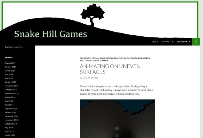 Screenshot of snakehillgames.com