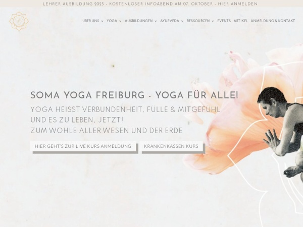 Screenshot of somayoga-freiburg.de