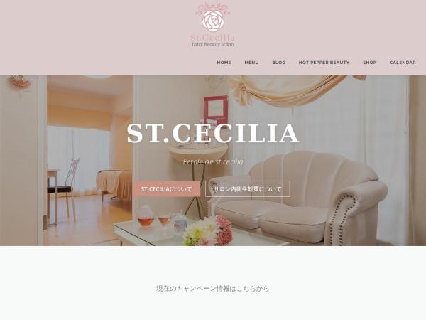 Screenshot of st-cecilia.co.jp