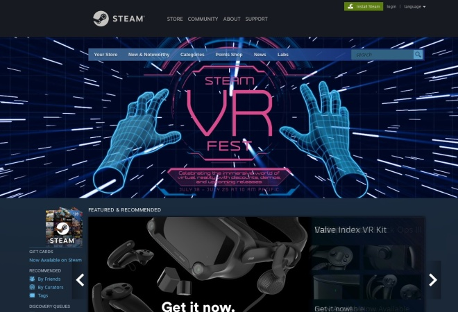 Screenshot of store.steampowered.com