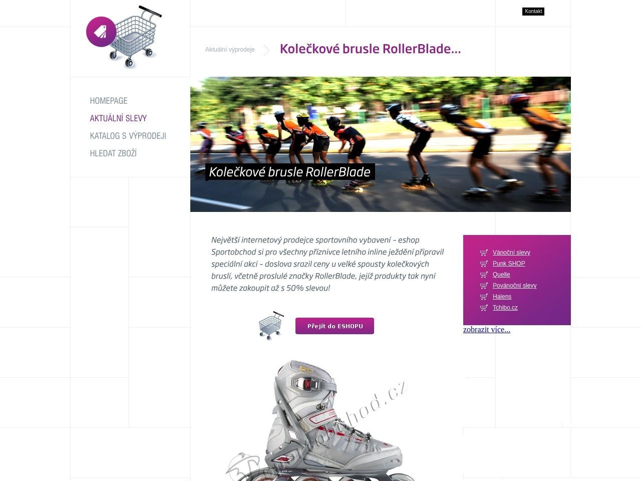 Kolečkové brusle RollerBlade (Zdroj: Wordpress.com)