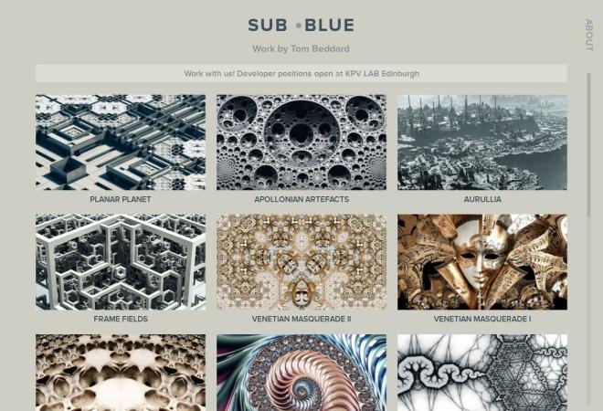 Screenshot of sub.blue