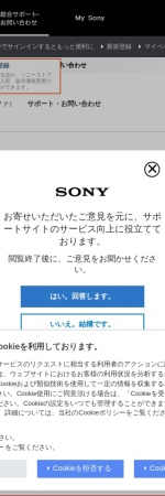 Screenshot of support.d-imaging.sony.co.jp