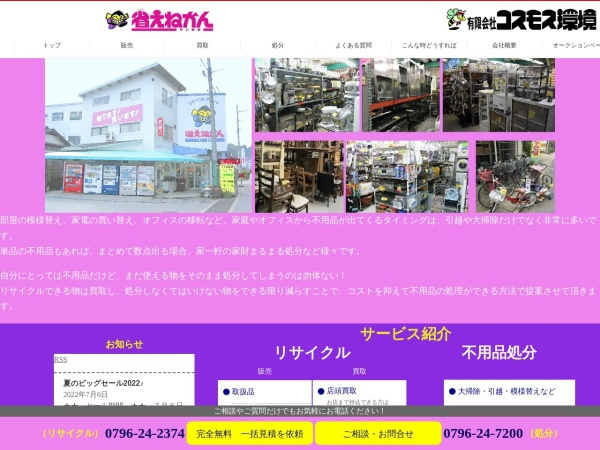 Screenshot of syouene-kosumosu.com