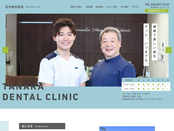Screenshot of tanaka-dental.jp