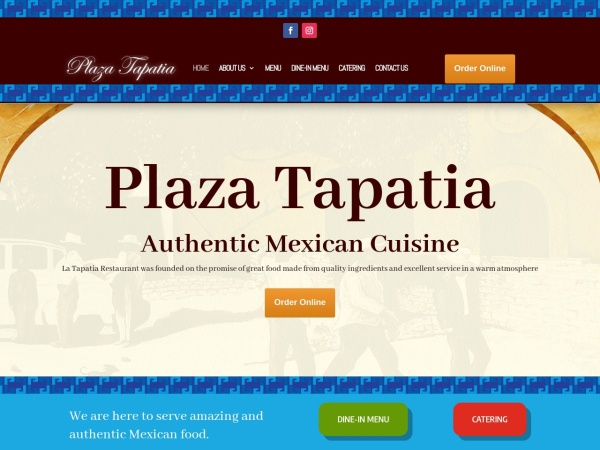 Screenshot of tapatiarestaurant.com
