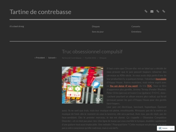 Screenshot of tartinedecontrebasse.com