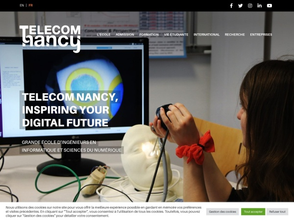 Screenshot of telecomnancy.univ-lorraine.fr
