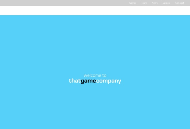 Screenshot of thatgamecompany.com