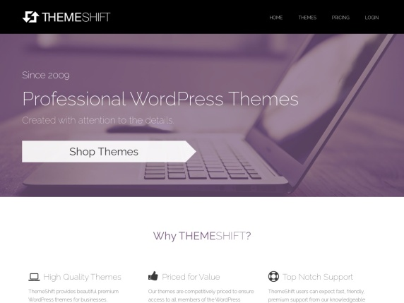 ThemeShift homepage