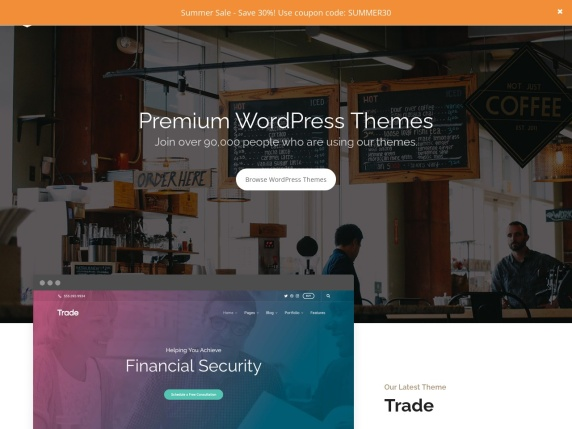 ThemeTrust homepage