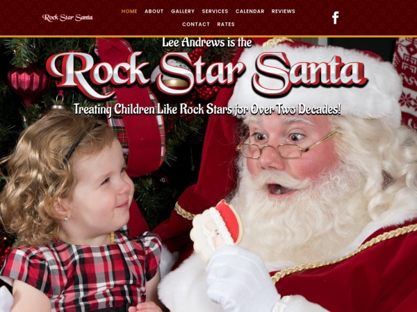 Screenshot of therealgeorgiasanta.com