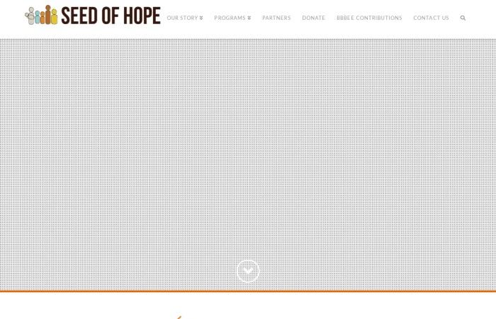 Screenshot of theseedofhope.org