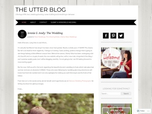 The Utter Blog using the Adelle WordPress Theme