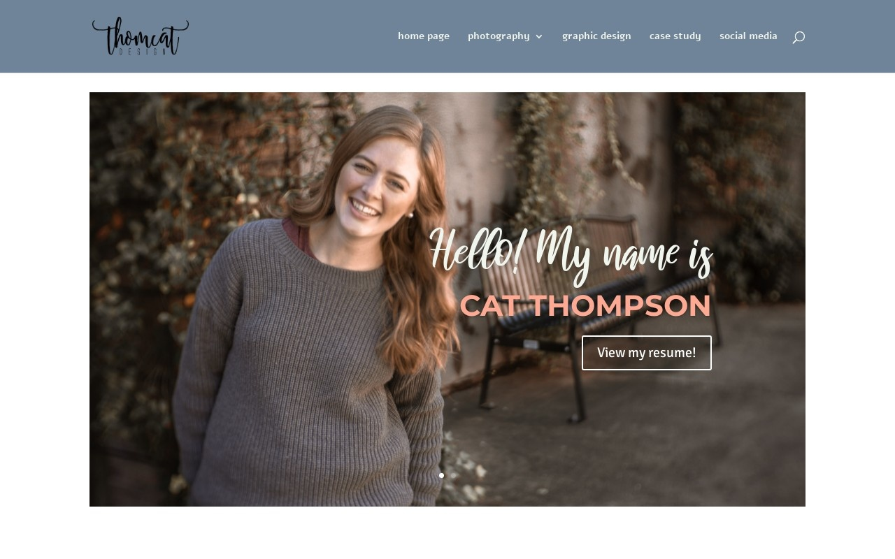 Screenshot of thomcatdesign.com