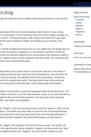 Screenshot of threedubmedia.com