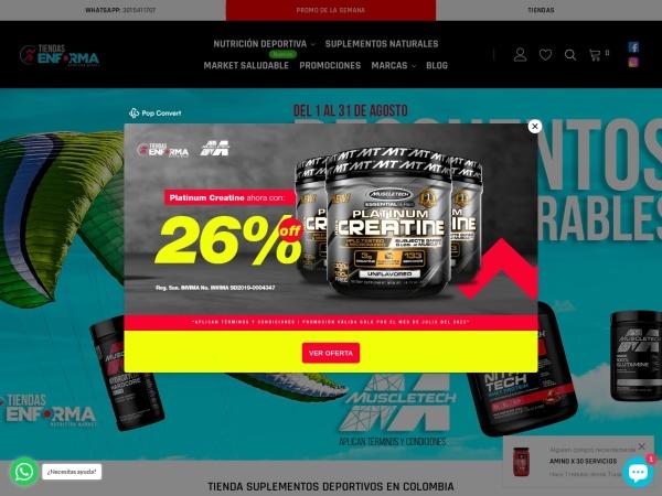 Captura de pantalla de tiendasenforma.com